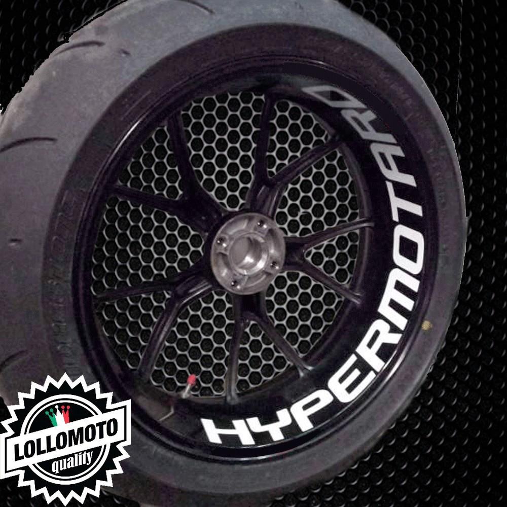 2x Adesivi Cerchi Hypermotard Ducati Moto Decal Intagliati