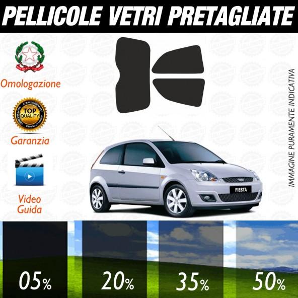 Ford Fiesta 3P dal 2002 al 2007 Pellicole Oscuramento Vetri Posteriori Auto Pre Tagliate a Misura