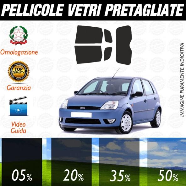 Ford Fiesta 5P dal 2002 al 2008 Pellicole Oscuramento Vetri Posteriori Auto Pre Tagliate a Misura