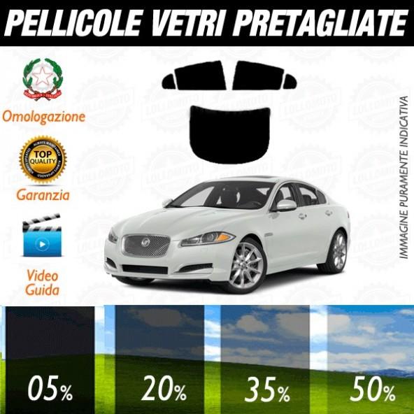 Jaguar Xf / Xfr dal 2008 al 2015 Pellicole Oscuramento Vetri Auto Pre Tagliate a Misura