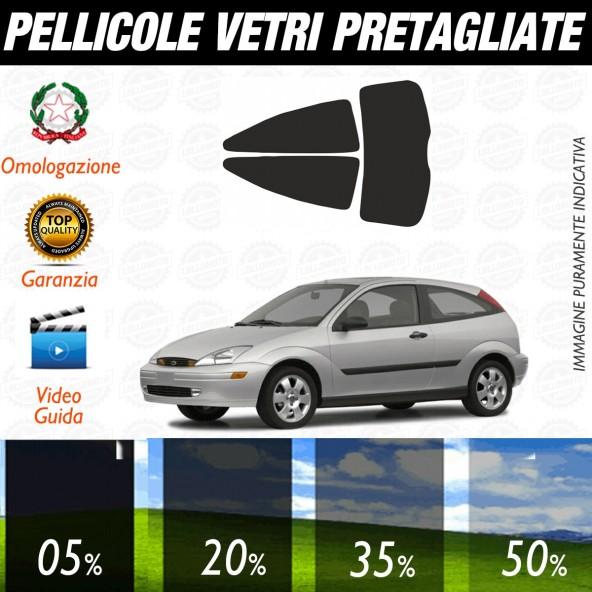 Ford Focus 5P dal 1999 al 2004 Pellicole Oscuramento Vetri Posteriori Auto Pre Tagliate a Misura