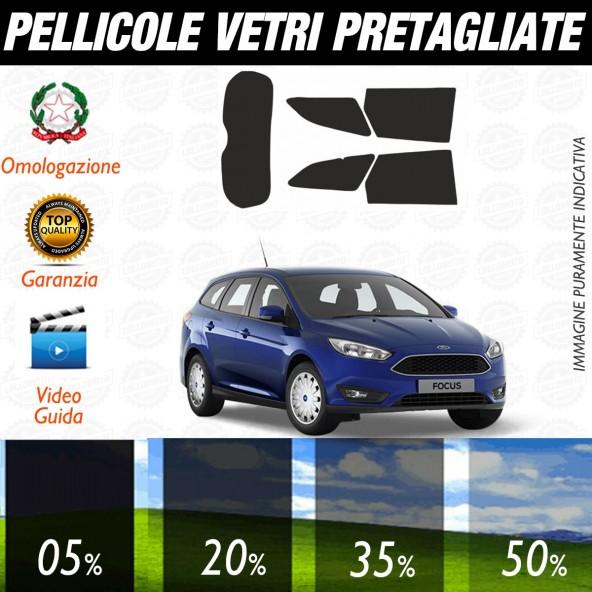 Ford Focus Sw dal 2011 ad OGGI Pellicole Oscuramento Vetri Posteriori Auto Pre Tagliate a Misura