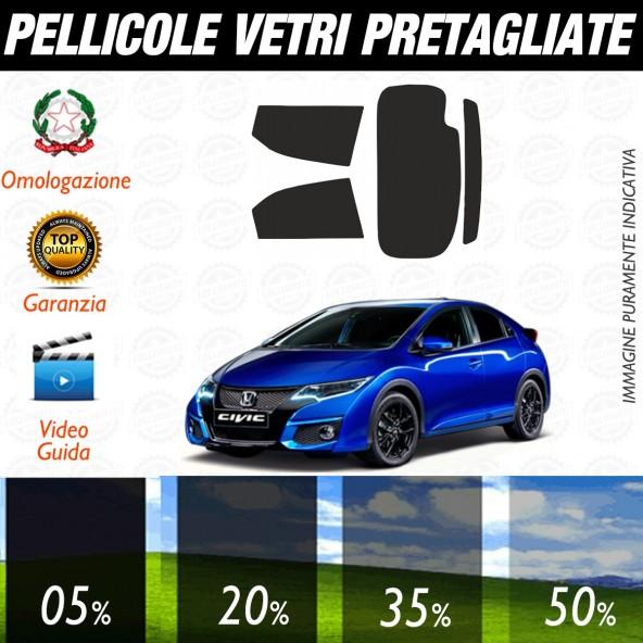 Honda Civic 5P dal 2012 ad OGGI Pellicole Oscuramento Vetri Posteriori Auto Pre Tagliate a Misura