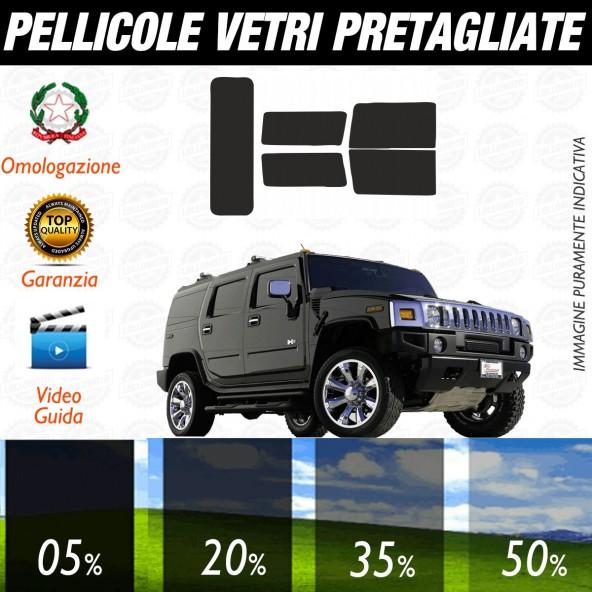 Hummer H2 dal 2004 al 2010 Pellicole Oscuramento Vetri Posteriori Auto Pre Tagliate a Misura