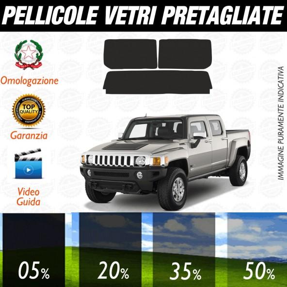 Hummer H3T dal 2008 al 2010 Pellicole Oscuramento Vetri Posteriori Auto Pre Tagliate a Misura