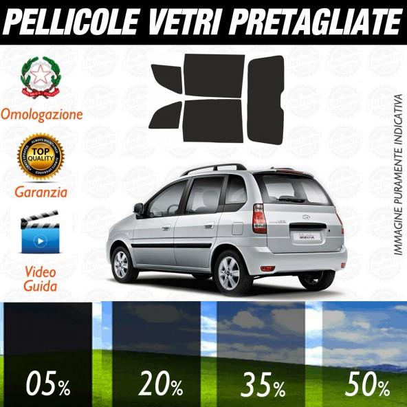 Hyundai Matrix 5P dal 2002 al 2007 Pellicole Oscuramento Vetri Posteriori Auto Pre Tagliate a Misura