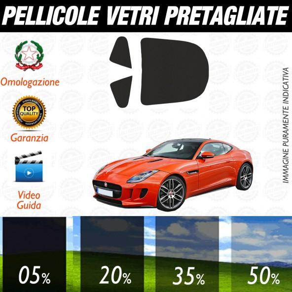 Jaguar F Type dal 2014 ad OGGI Pellicole Oscuramento Vetri Posteriori Auto Pre Tagliate a Misura