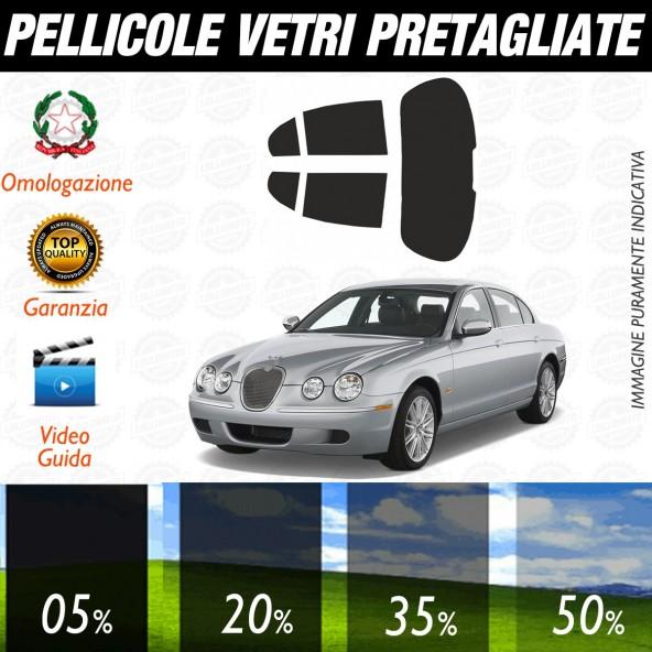 Jaguar S Type dal 2000 al 2008 Pellicole Oscuramento Vetri Posteriori Auto Pre Tagliate a Misura
