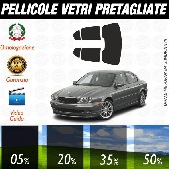 Jaguar X Type dal 2002 al 2008 Pellicole Oscuramento Vetri Posteriori Auto Pre Tagliate a Misura