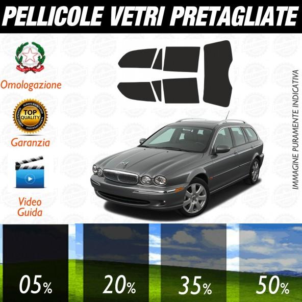 Jaguar X Type Sw dal 2005 ad OGGI Pellicole Oscuramento Vetri Posteriori Auto Pre Tagliate a Misura