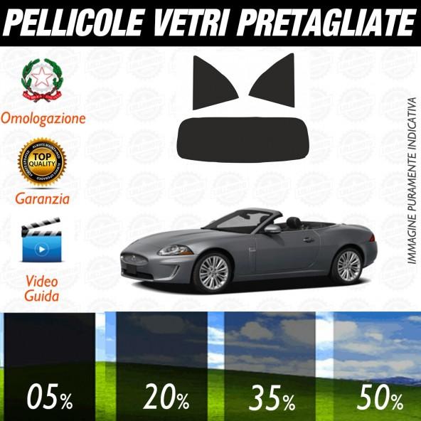 Jaguar Xk/Xkr Cabrio dal 2007 al 2011 Pellicole Oscuramento Vetri Posteriori Auto Pre Tagliate a Misura