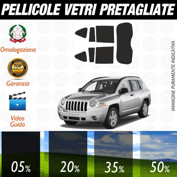 Jeep Compass dal 2007 al 2011 Pellicole Oscuramento Vetri Auto Pre Tagliate a Misura