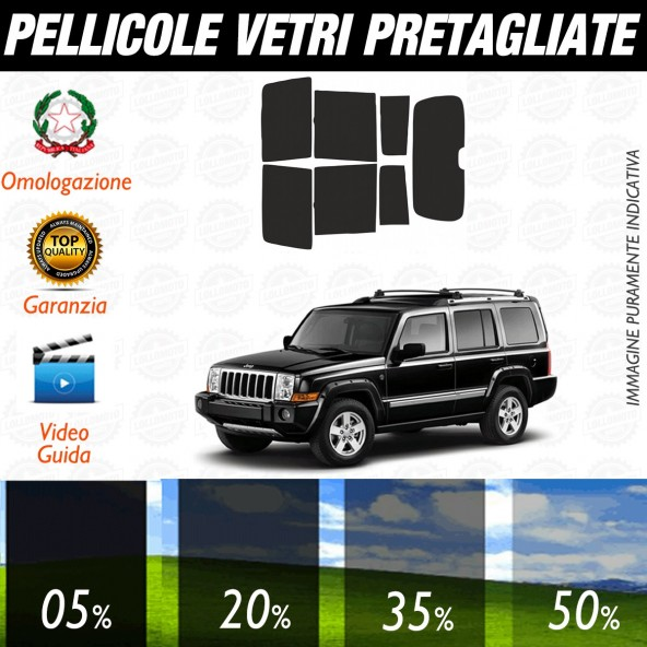 Jeep Commander dal 2006 ad OGGI Pellicole Oscuramento Vetri Auto Pre Tagliate a Misura