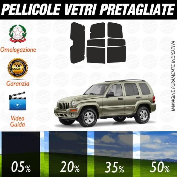 Jeep Cherokee dal 2001 al 2003 Pellicole Oscuramento Vetri Auto Pre Tagliate a Misura