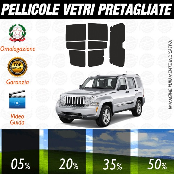 Jeep Cherokee dal 2003 al 2008 Pellicole Oscuramento Vetri Auto Pre Tagliate a Misura