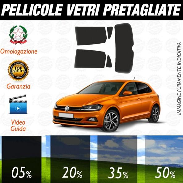Volkswagen Polo 5P dal 2018 ad OGGI Pellicole Oscuramento Vetri Posteriori Auto Pre Tagliate a Misura