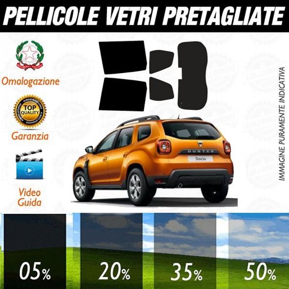 Dacia Duster 5P dal 2018 ad OGGI Pellicole Oscuramento Vetri Posteriori Auto Pre Tagliate a Misura