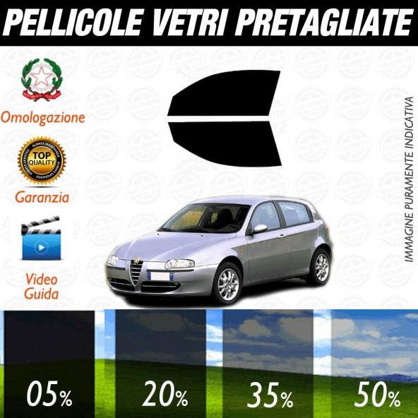 Alfa Romeo 147 5P dal 2001 al 2005 Pellicole Oscuramento Vetri Anteriori Auto Pre Tagliate a Misura
