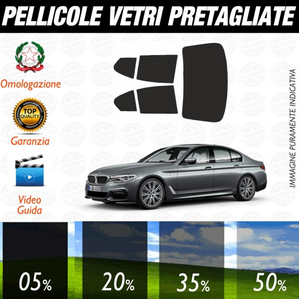 Bmw Serie 5 Berlina dal 2011 al 2016 Pellicole Oscuramento Vetri Posteriori Auto Pre Tagliate a Misura