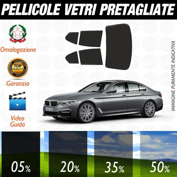 Bmw Serie 5 Berlina dal 2017 ad OGGI Pellicole Oscuramento Vetri Posteriori Auto Pre Tagliate a Misura con Plotter