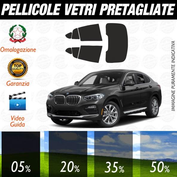 Bmw X4 dal 2018 al 2019 Pellicole Oscuramento Vetri Posteriori Auto Pre Tagliate a Misura