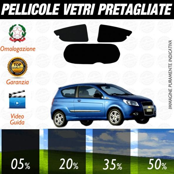 Chevrolet Aveo 3P dal 2009 al 2010 Pellicole Oscuramento Vetri Posteriori Auto Pre Tagliate a Misura