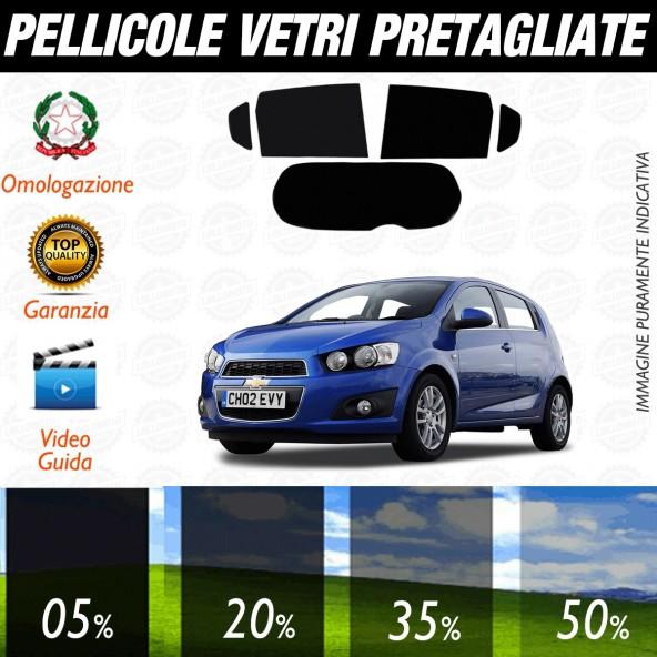 Chevrolet Aveo 5P dal 2009 al 2010 Pellicole Oscuramento Vetri Posteriori Auto Pre Tagliate a Misura