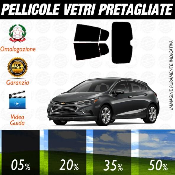 Chevrolet Cruze 5P dal 2011 ad OGGI Pellicole Oscuramento Vetri Posteriori Auto Pre Tagliate a Misura