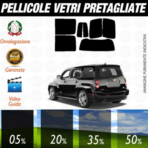 Chevrolet HHR dal 2006 ad OGGI Pellicole Oscuramento Vetri Posteriori Auto Pre Tagliate a Misura