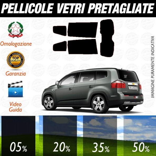 Chevrolet Orlando dal 2011 ad OGGI Pellicole Oscuramento Vetri Posteriori Auto Pre Tagliate a Misura