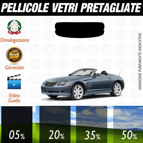 Chrysler Crossfire Cabrio dal 2004 al 2008 Pellicole Oscuramento Vetri Posteriori Auto Pre Tagliate a Misura