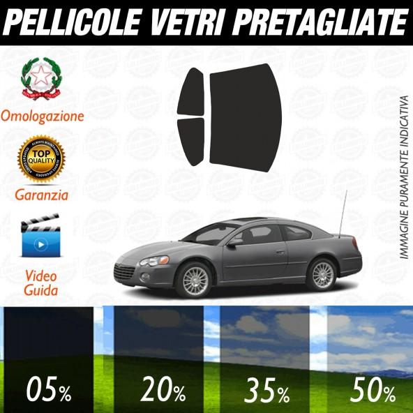 Chrysler Sebring 2P dal 2001 al 2006 Pellicole Oscuramento Vetri Posteriori Auto Pre Tagliate a Misura