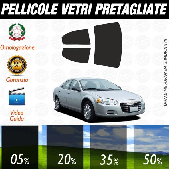 Chrysler Sebring 4P dal 2001 al 2006 Pellicole Oscuramento Vetri Posteriori Auto Pre Tagliate a Misura