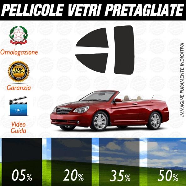 Chrysler Sebring Cabrio dal 2007 ad OGGI Pellicole Oscuramento Vetri Posteriori Auto Pre Tagliate a Misura