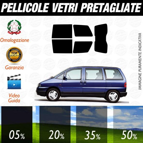 Citroen Evasion dal 1995 al 2002 Pellicole Oscuramento Vetri Posteriori Auto Pre Tagliate a Misura