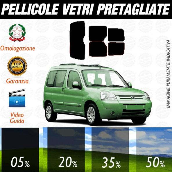 Citroen Berlingo dal 1997 al 2007 Pellicole Oscuramento Vetri Posteriori Auto Pre Tagliate a Misura