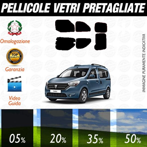 Dacia Dokker dal 2013 ad OGGI Pellicole Oscuramento Vetri Posteriori Auto Pre Tagliate a Misura