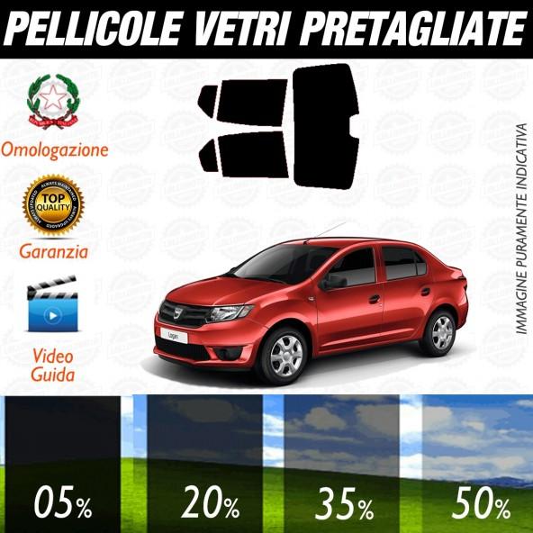 Dacia Logan 4P dal 2013 ad OGGI Pellicole Oscuramento Vetri Posteriori Auto Pre Tagliate a Misura