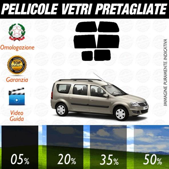Dacia Logan Break Sw dal 2007 al 2009 Pellicole Oscuramento Vetri Posteriori Auto Pre Tagliate a Misura