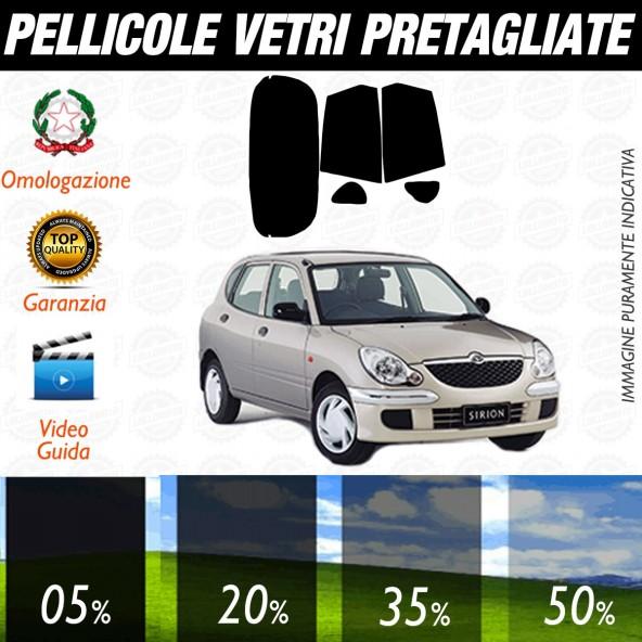 Daihatsu Sirion dal 1998 al 2004 Pellicole Oscuramento Vetri Posteriori Auto Pre Tagliate a Misura