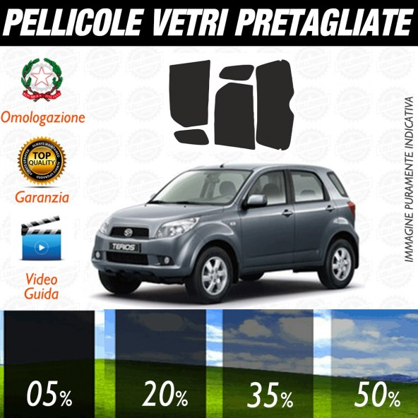 Daihatsu Terios dal 2007 ad OGGI Pellicole Oscuramento Vetri Posteriori Auto Pre Tagliate a Misura