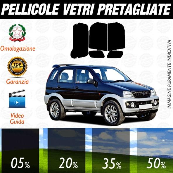 Daihatsu Terios dal 2004 al 2007 Pellicole Oscuramento Vetri Posteriori Auto Pre Tagliate a Misura