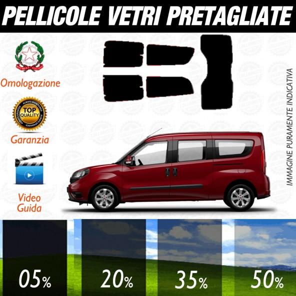 Fiat Doblò Maxi dal 2010 ad OGGI Pellicole Oscuramento Vetri Posteriori Auto Pre Tagliate a Misura Plotter