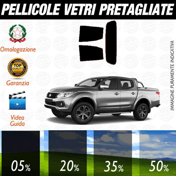 Fiat Fulback dal 2016 al 2017 Pellicole Oscuramento Vetri Posteriori Auto Pre Tagliate a Misura Plotter