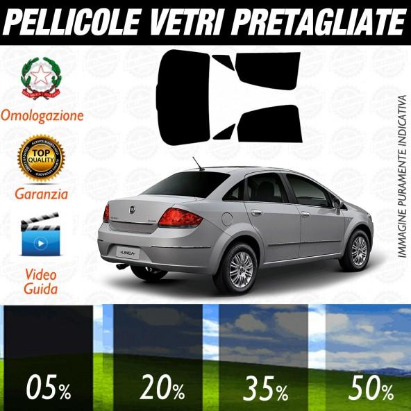 Fiat Linea dal 2009 ad OGGI Pellicole Oscuramento Vetri Posteriori Auto Pre Tagliate a Misura Plotter