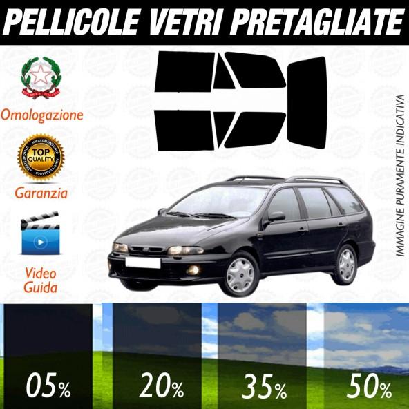 Fiat Marea Sw dal 2001 al 2005 Pellicole Oscuramento Vetri Posteriori Auto Pre Tagliate a Misura Plotter