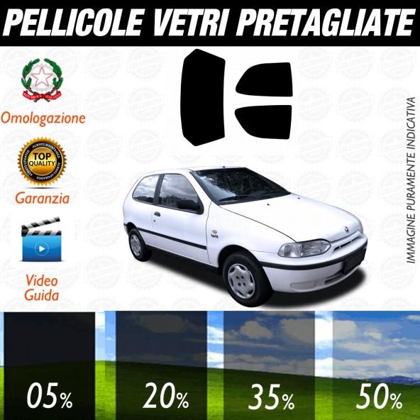 Fiat Palio 3P dal 2000 al 2005 Pellicole Oscuramento Vetri Posteriori Auto Pre Tagliate a Misura Plotter