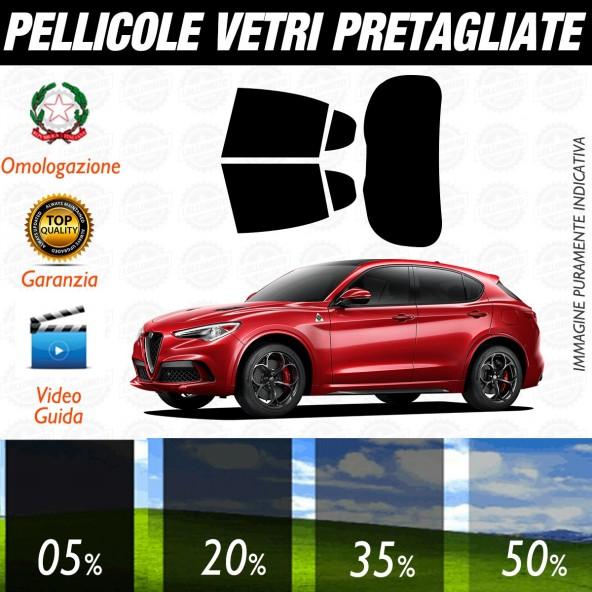 Alfa Romeo Stelvio dal 2017 ad OGGI Pellicole Oscuramento Vetri Auto Pre Tagliate a Misura