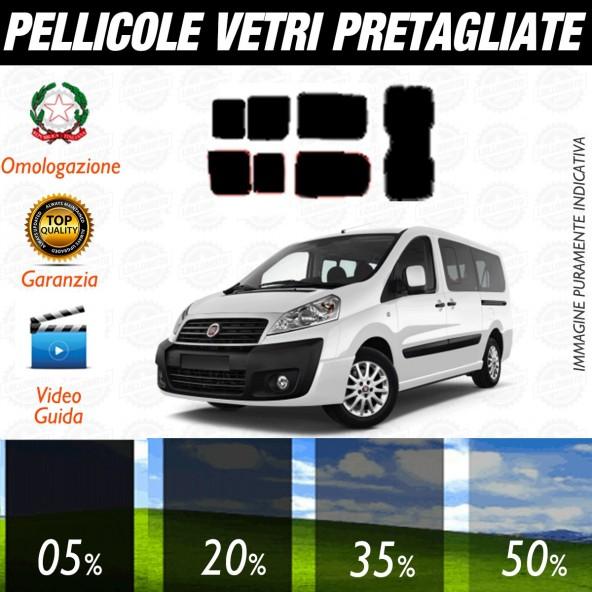 Fiat Scudo dal 2007 al 2008 Pellicole Oscuramento Vetri Posteriori Auto Pre Tagliate a Misura Plotter