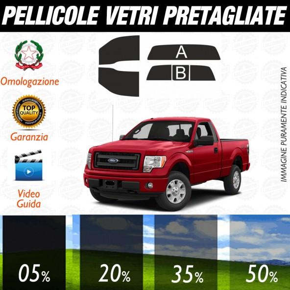 Ford F150 Standard Cab dal 2009 al 2014 Pellicole Oscuramento Vetri Posteriori Auto Pre Tagliate a Misura